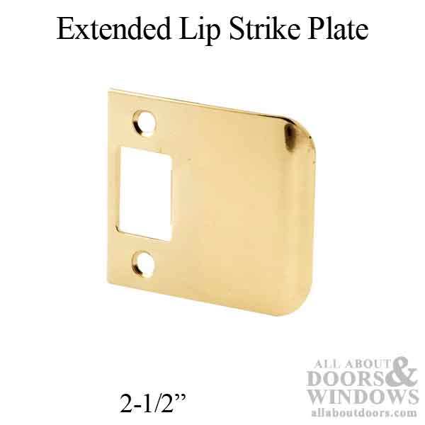 Strike Plate With Extended Lip 2 1 2 Quot Plated Brass