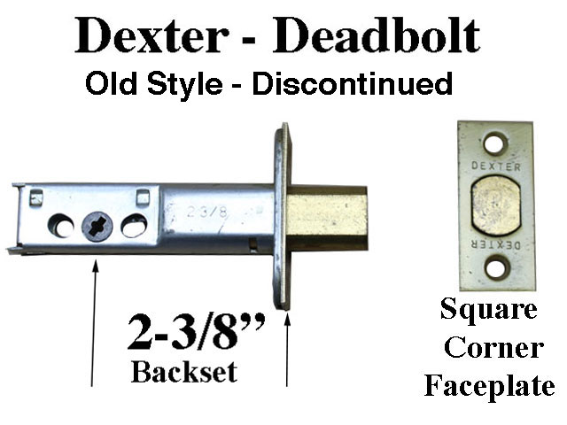 Dexter Master Dead Bolt Latch Entry Door 2 3 8 Backset