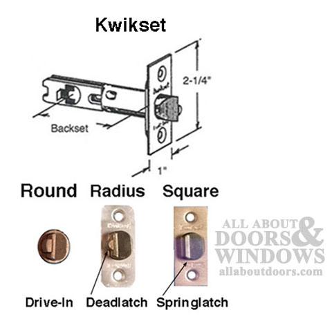 Kwikset Deadlatch Adjustable 2 3 8 Amp 2 3 4 Brass Face