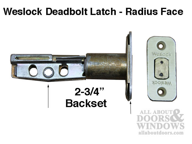 Weslock 400 Series 2 3 4 Backset Deadbolt Latch Radius Face