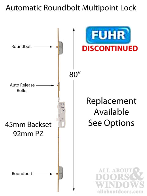 Fuhr 80 Inch Roundbolt Multipoint Lock 45mm Backset