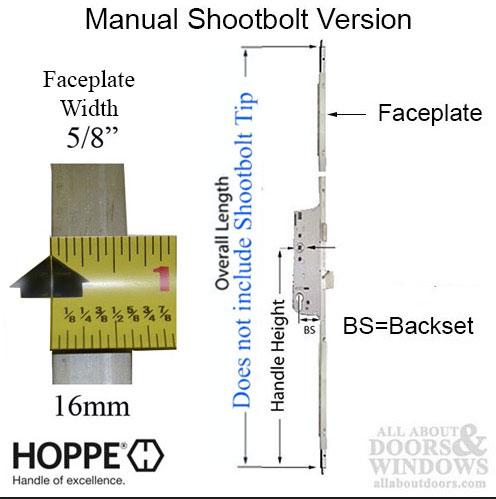 Replacement Shootbolt Kit 16 45 92 Hoppe North America Inc