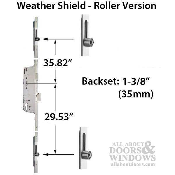 Weathershield Manual Version Lock Rollers At 29 53 Quot Amp 35 82 Quot