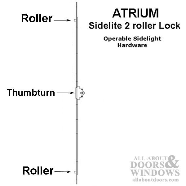 Atrium 2 Roller Venting Sidelight Hardware 25mm Operable