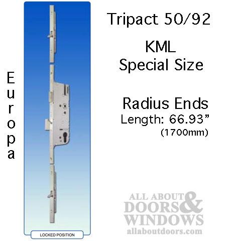 16mm Kml Tripact 50 92 G U Ferco 3 Point Door Lock