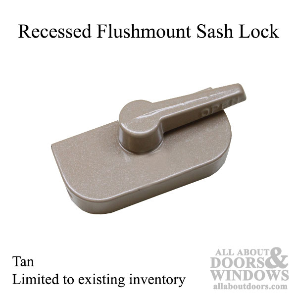 Crestline Recessed Flush Mount Style Sash Lock Tan
