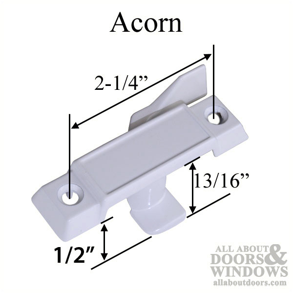 Acorn Window Parts 1 2 Inch Offset Sash Lock Latch White