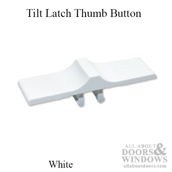 Thumb Button Only Tilt In Latch 3 4 X 2 1 2 Inch White