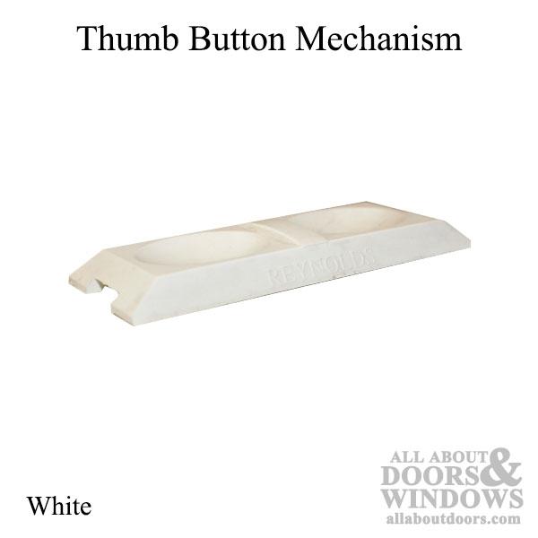 Thumb Button Mechanism For Double Hung Window Tilt Latch