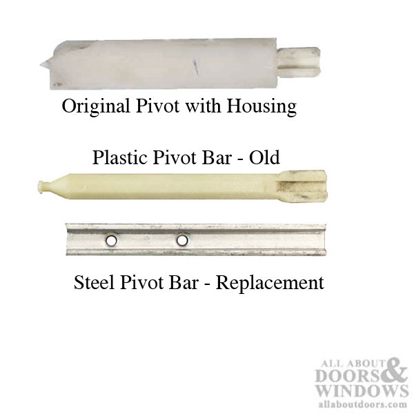 Discontinued Plastic Pivot Bar Assembly Vinyl Window Parts