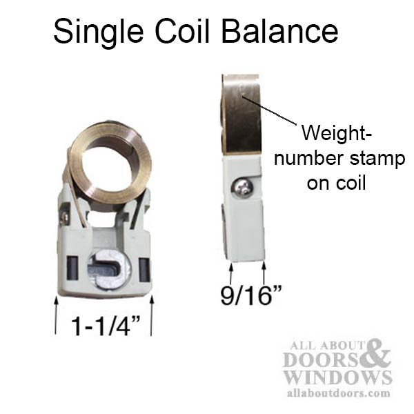 Constant Force 1 2 Inch Coil Balance Single Spring With