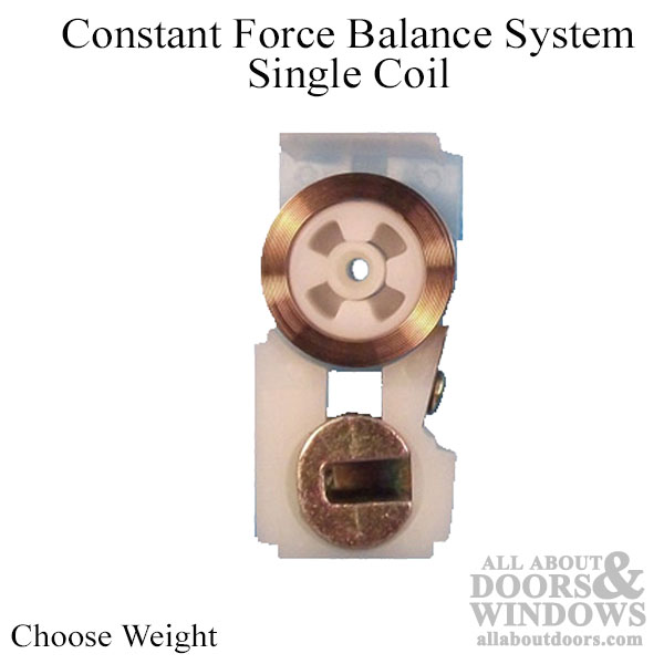 Constant Force Balance System Single Coil Choose Weight