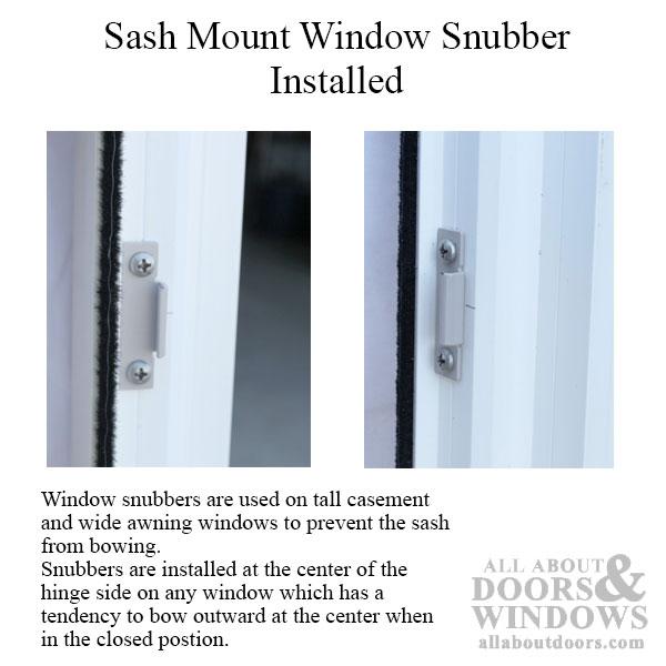 Window Snubber Concealed Frame Amp Sash Mount Sash Anti Bow