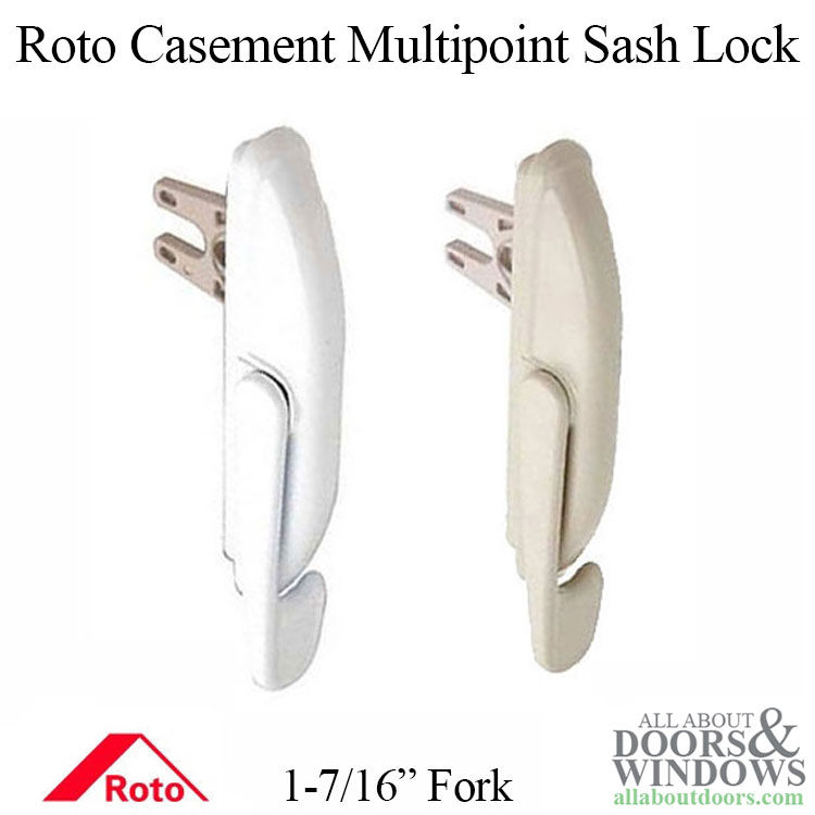 Non Handed Multipoint Sash Lock With 1 7 16 Inch Fork White