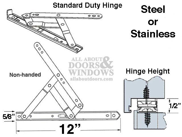4 Bar Hinges 12 Inch Window Track Truth 34 19 Ydi Steel
