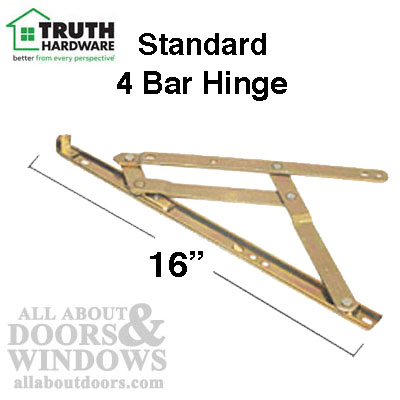 4 Bar Hinges 16 Inch Window Track Truth 34 21 Stainless
