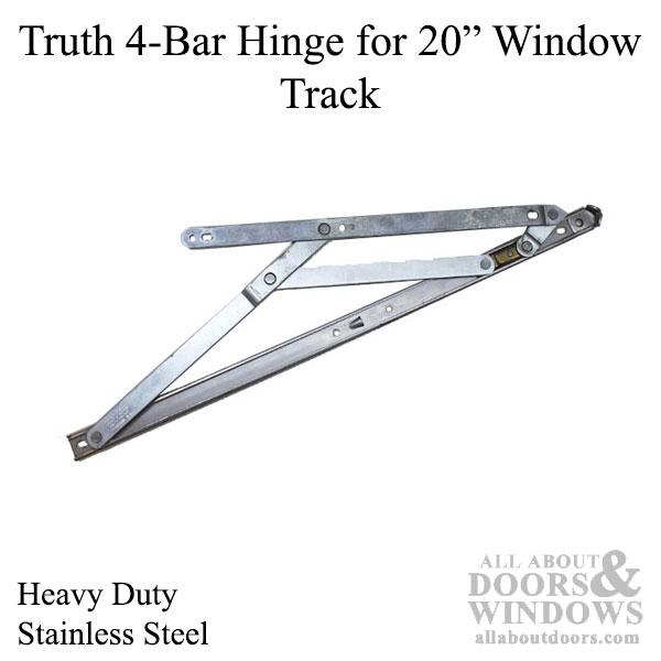4 Bar Commercial Window Hinge 7 8 X 20 In Heavy Duty