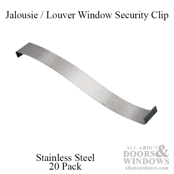 Jalousie Louver Window Security Clip Stainless Steel 3