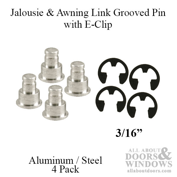 Jalousie And Awning Window Link Groove Pin Amp E Clip Pack