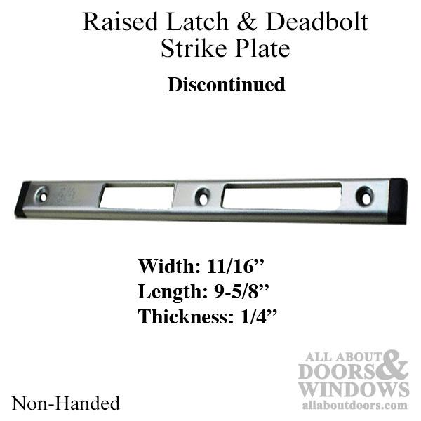 Non Handed Strike Plate Latch Amp Deadbolt 1 4 Inch Raised
