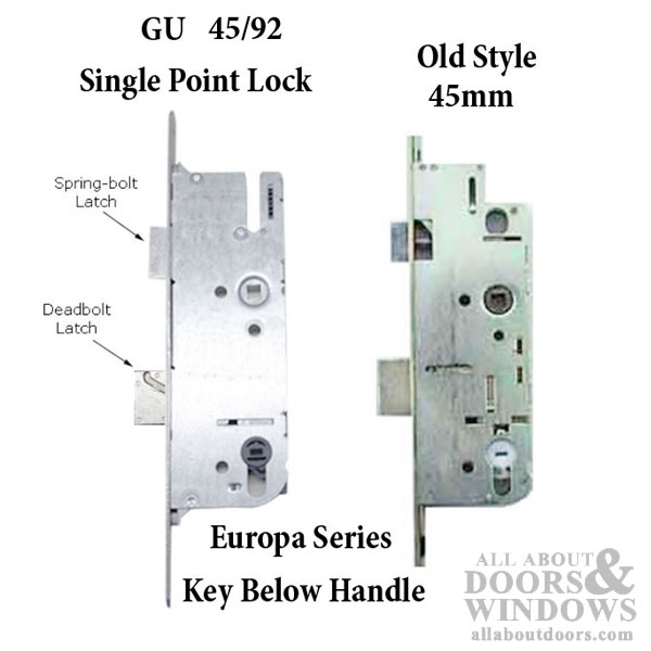 G U Monolock 45 92 Single Door Lock Key Below Lever