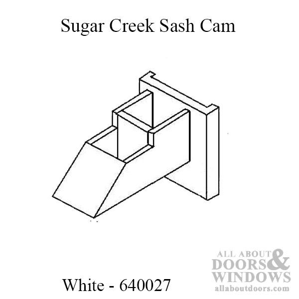 Sugar Creek Sash Cam Left Amp Right Pairs White