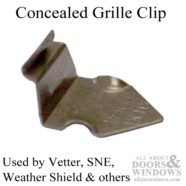 Metal Concealed Grille Clip Stamped Steel For Window Grid