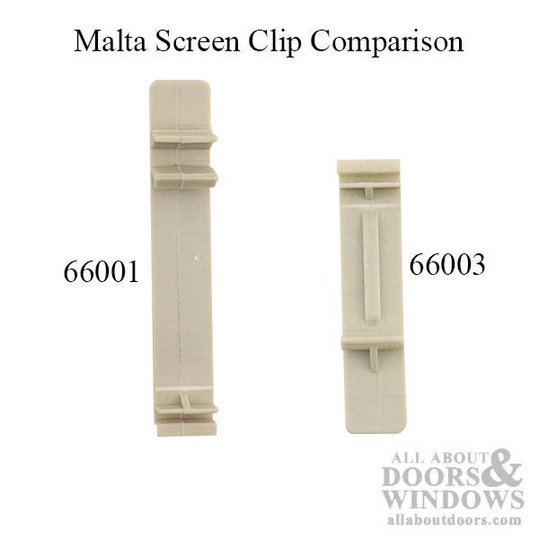 Malta Double Hung Plastic Screen Clip 2 3 16 Inch 1994