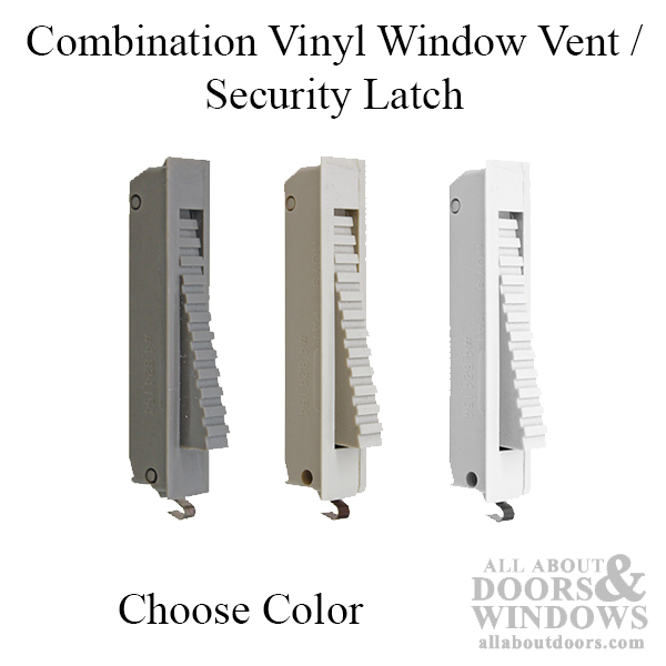Combination Vinyl Window Vent Security Latch Choose Color