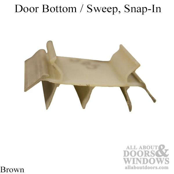Door Bottom Sweep Snap In Brown