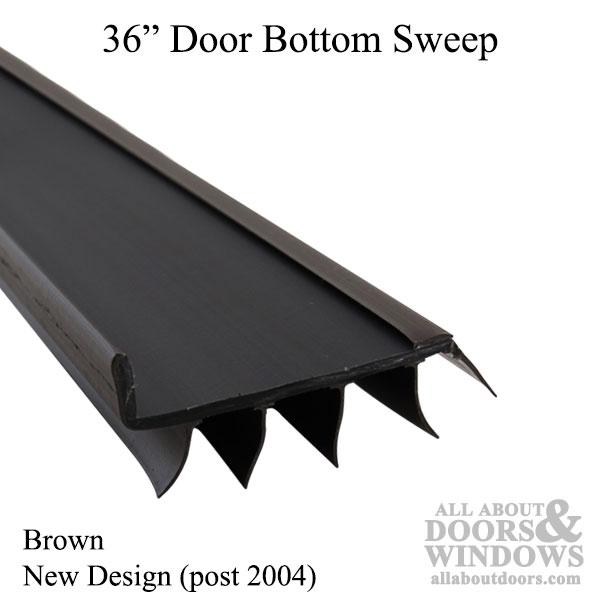 Vinyl door bottom sweeps