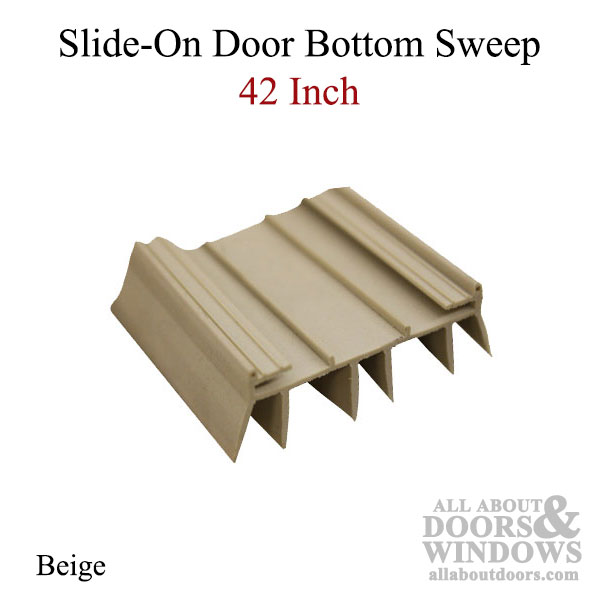 Slide on door bottom