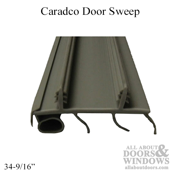 Caradco Door Sweep 2 Kerf With Bulb And 3 Fins 34 9 16