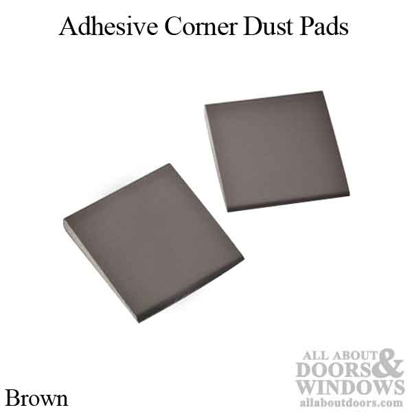 Dust Corner Pad 1 5 8 X 1 5 8 Adhesive Back Brown