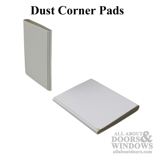 Dust/ Corner Pad, 1-5/8 x 2, Adhesive Back - White