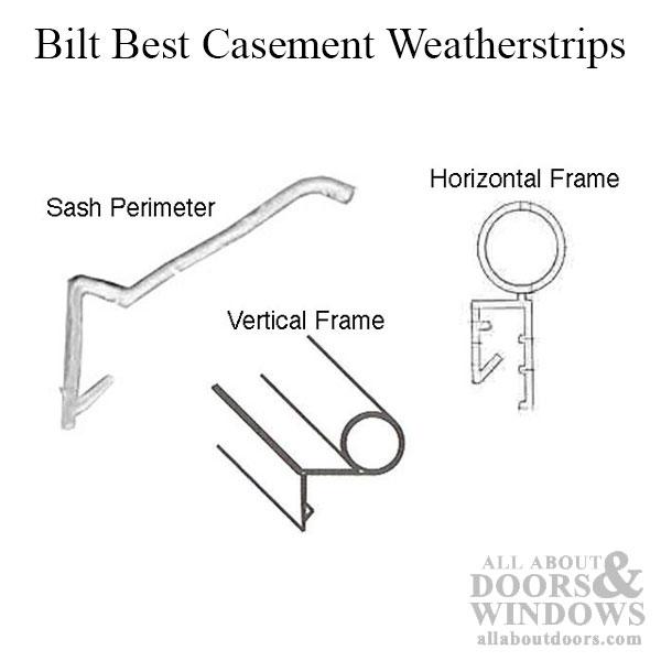 10 Foot Leaf Weatherstrip Bilt Best Caradco Hurd Casement And