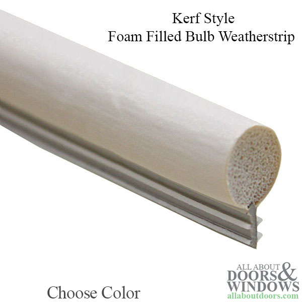 Bulb And Kerf Type Weatherstrip Window