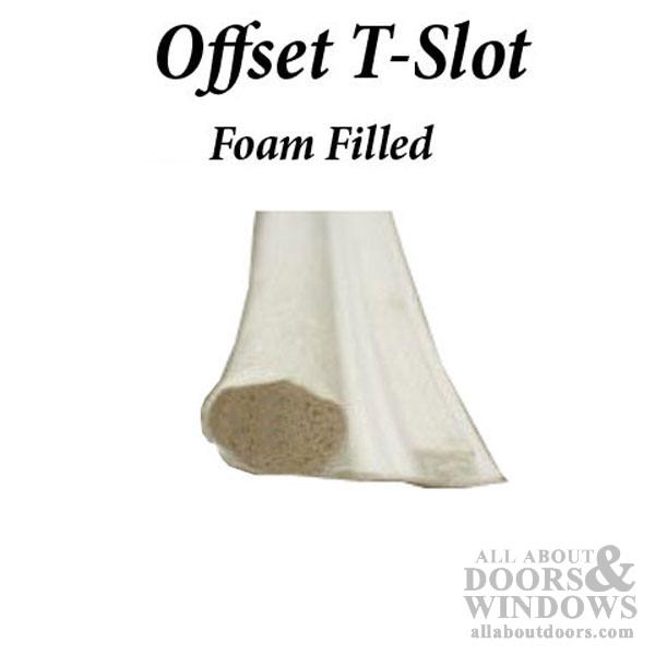 Foam Filled Bulb 350 Diameter Offset Slide In T Slot
