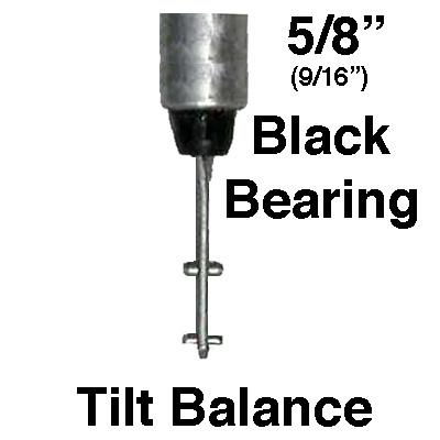 5 8 Inch Spiral Tilt In Window Balance Rod W Black Bearing