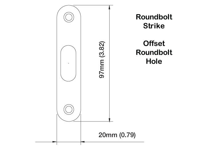 Strike Plate Pb0005n Roundbolt 0 79 X 3 82 Brass