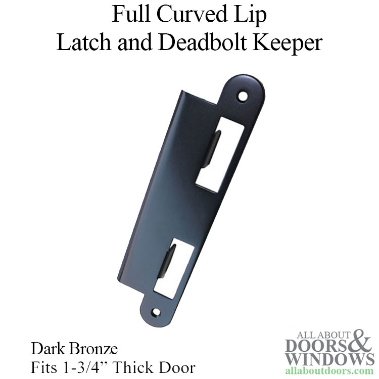 Latch Amp Deadbolt Strike Plate 45mm 1 3 4 Quot Door Dark Bronze