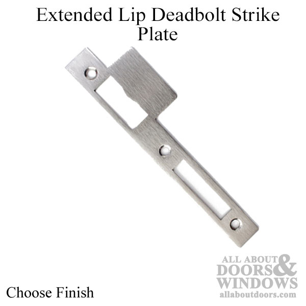 Extended Lip Latch And Deadbolt Strike Plate Square Ends