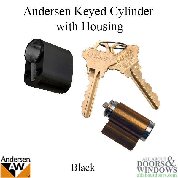 Andersen Albany Keyed Lock Cylinder With Housing Fwh Black