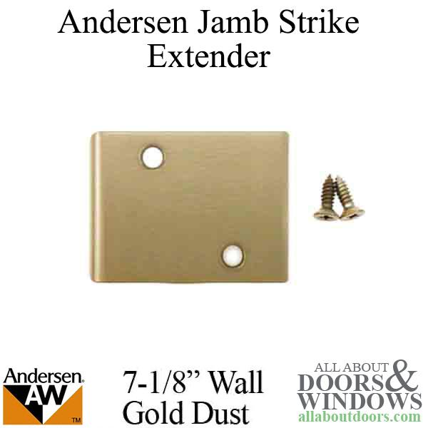 Andersen Jamb Strike Extender 3 Quot Gold Dust
