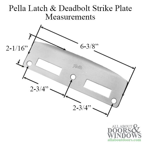 9015006_main 02 strike plate, latch & deadbolt, pella door choose color