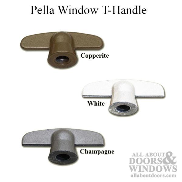 Vintage t-crank brand t-handles for window casements.