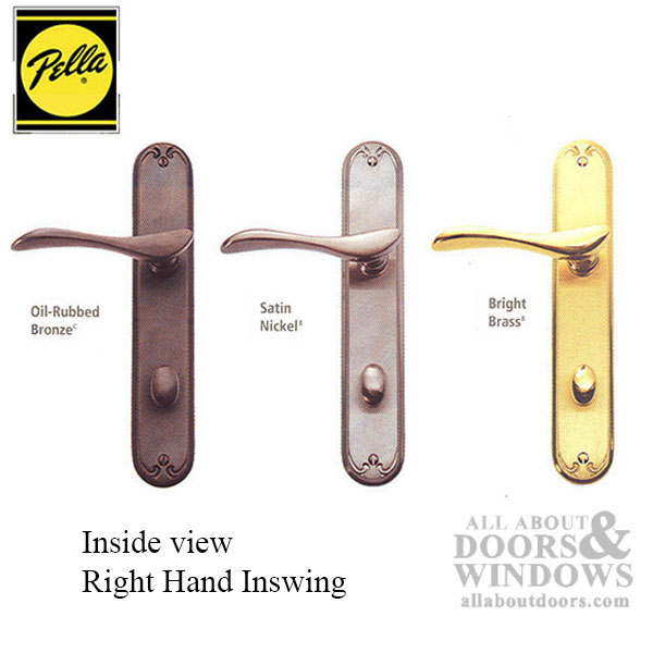 Active Pella Right Hand Keyed Handle Set For Hinged Door