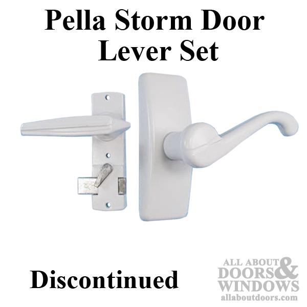 Pella Storm Door Lever Handle Set White Discontinued