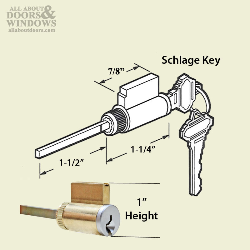 American Replacement Lock Cylinder 1 Quot X 1 1 2 Schlage