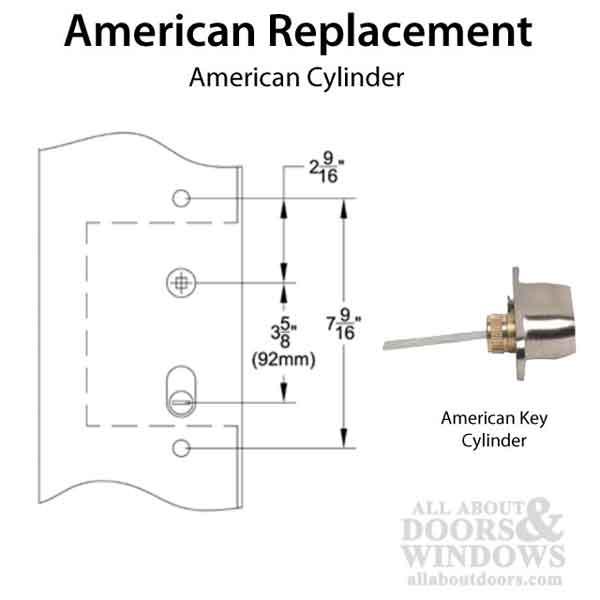 Multipoint Trim 1 1 2 X 11 Inch American Cylinder